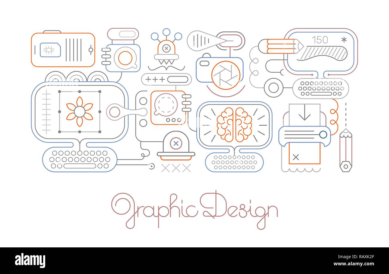 Line Art Isolated On A White Background Graphic Design