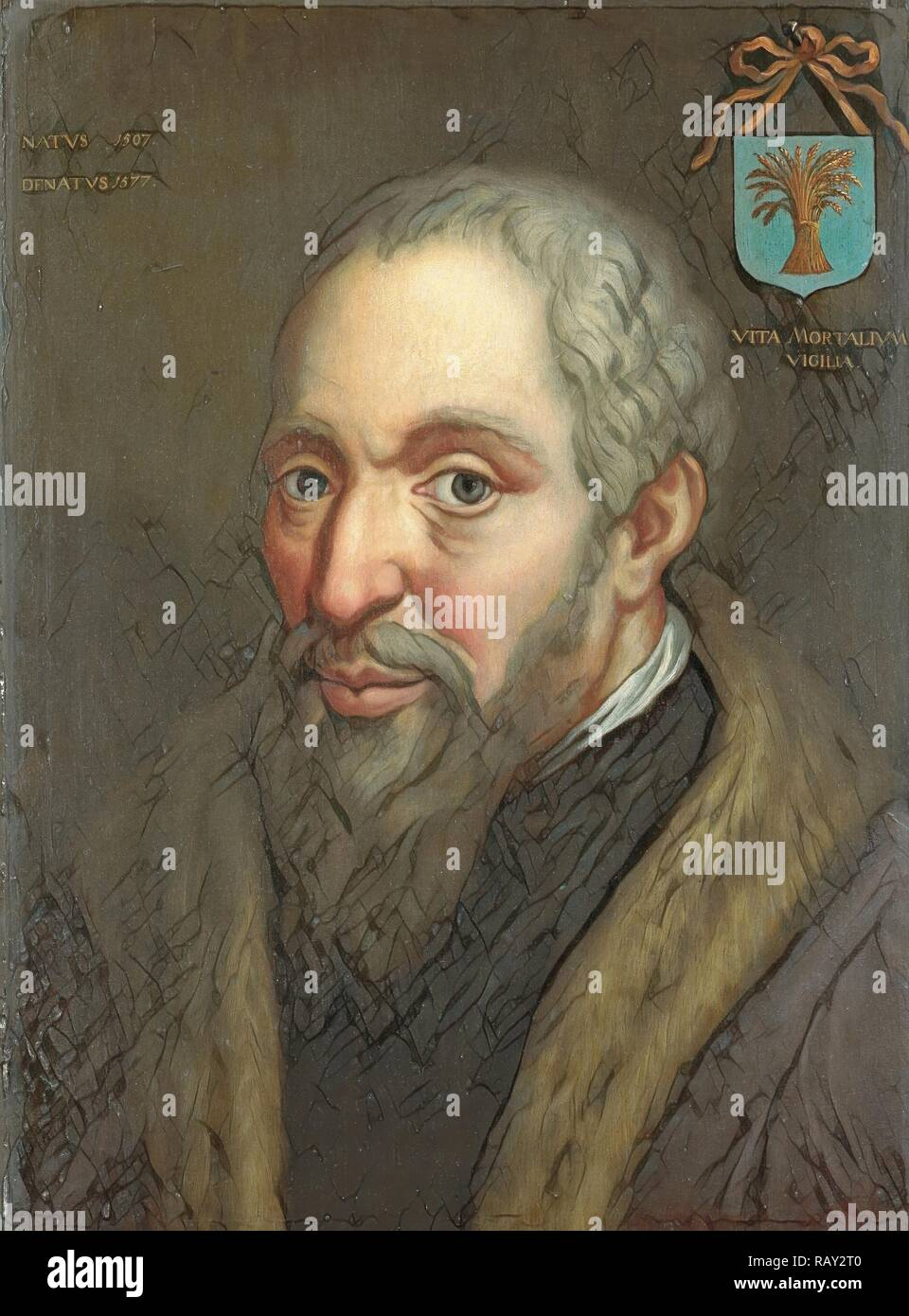 Portrait of Viglius ab Zuichemus, Frisian Jurist, President of the Privy Council and Member of the Council of State reimagined - Stock Image