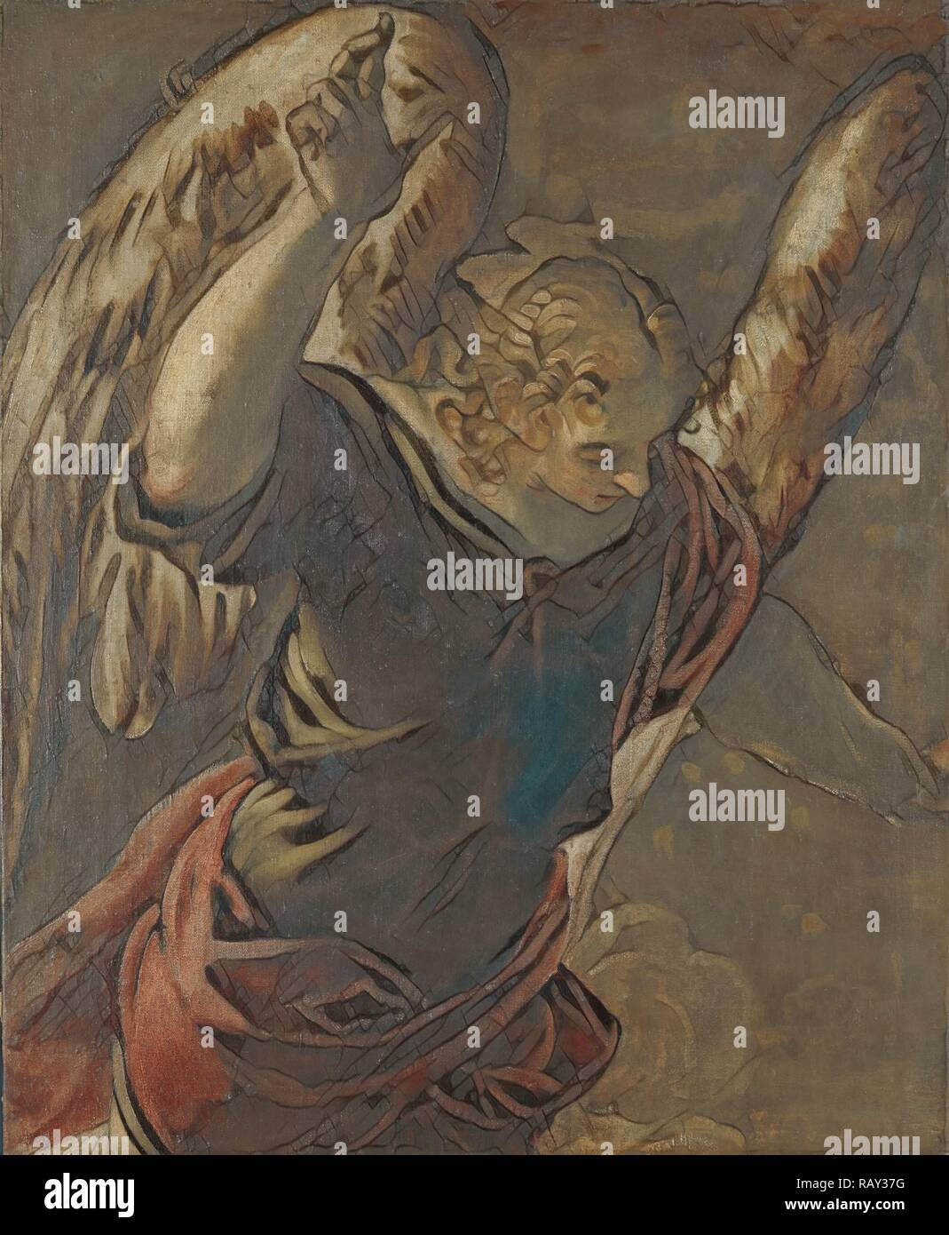 Angel from the Annunciation to the Virgin, Jacopo Tintoretto, 1560 - 1585. Reimagined by Gibon. Classic art with a reimagined - Stock Image