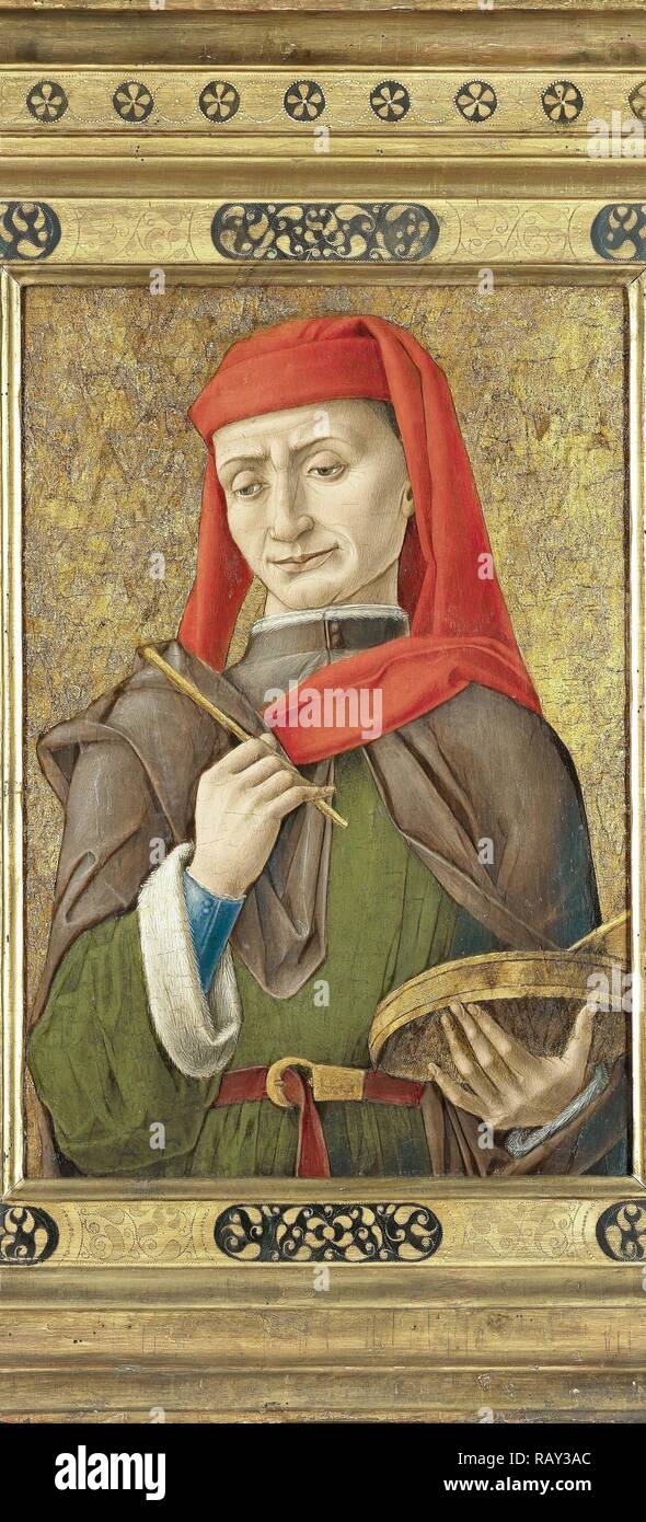 Saint Damian (or Cosmas), attributed to Bartolommeo Vivarini, 1465 - 1480. Reimagined by Gibon. Classic art with a reimagined - Stock Image