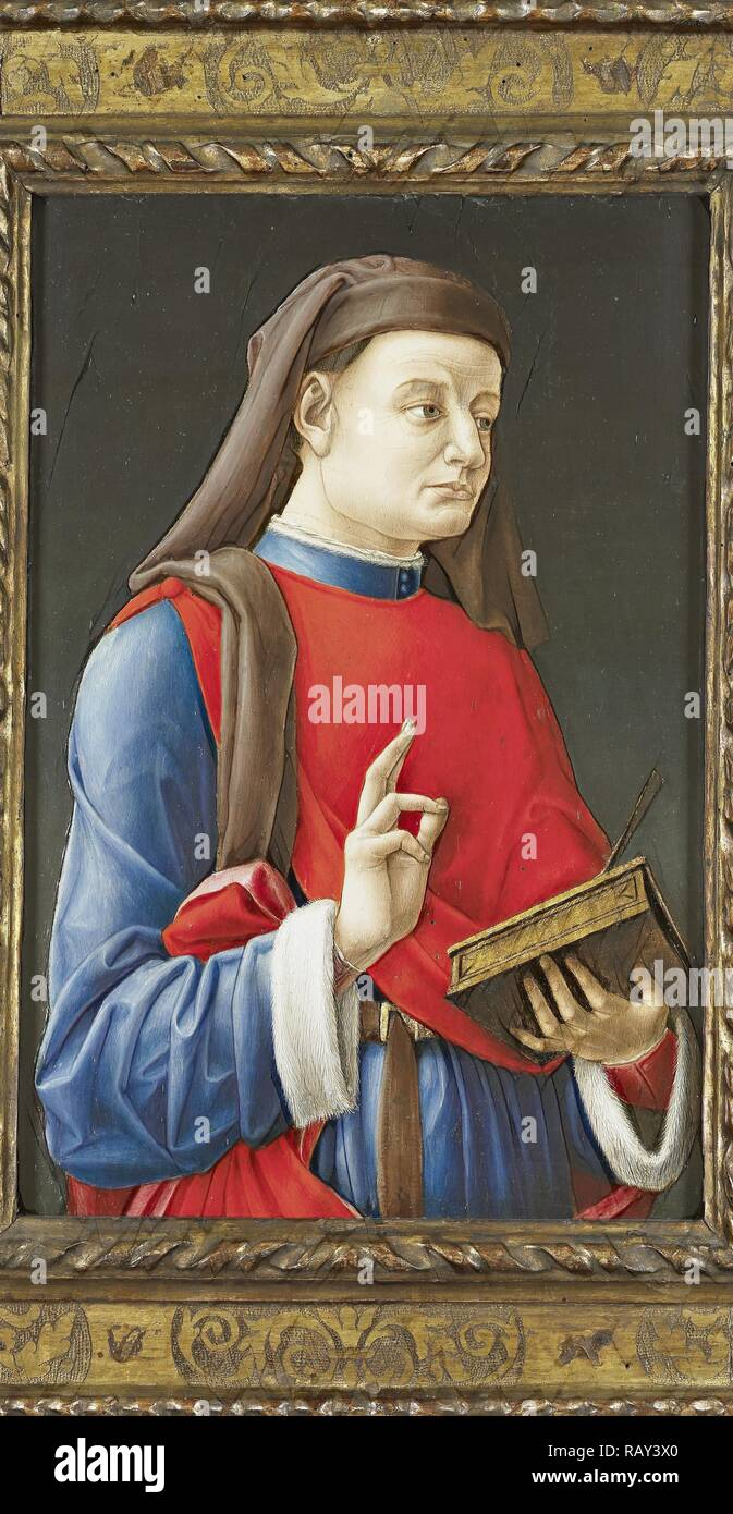 Saint Cosmas, or Damian, attributed to Bartolommeo Vivarini, 1460 - 1480. Reimagined by Gibon. Classic art with a reimagined - Stock Image