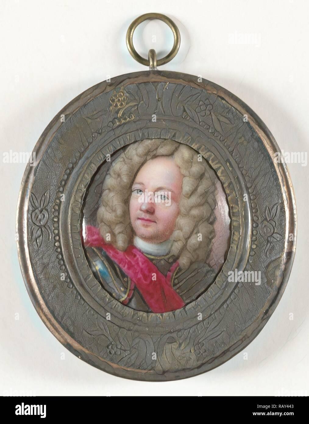John Churchill, 1650-1722, Duke of Marlborough, attributed to Johann Friedrich Ardin, 1700 - 1725, Portrait miniature reimagined - Stock Image