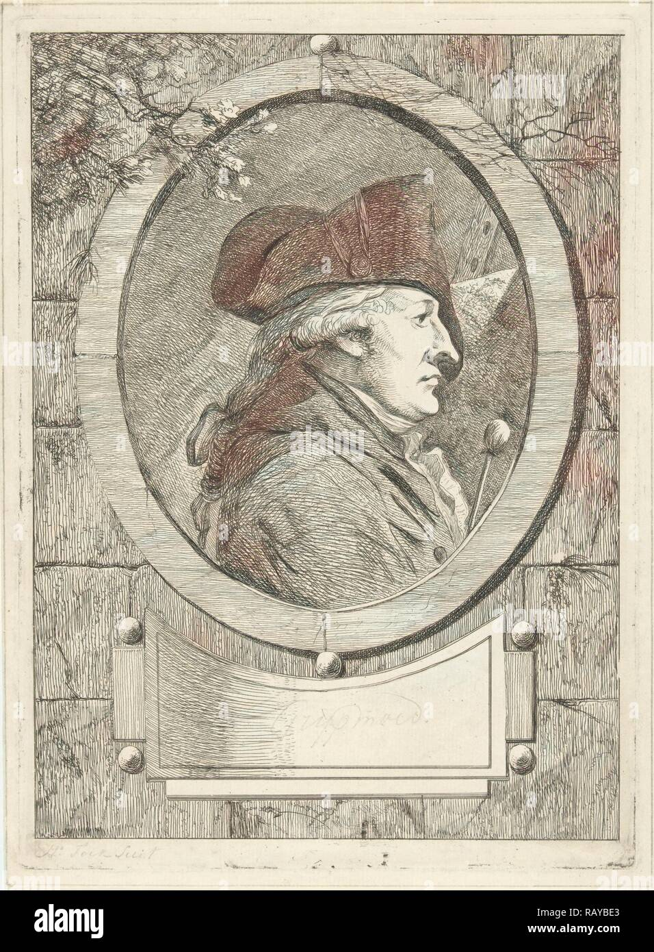 Portrait of Geerlig Grijpmoed, Hermanus Fock, 1781 - 1822. Reimagined by Gibon. Classic art with a modern twist reimagined - Stock Image