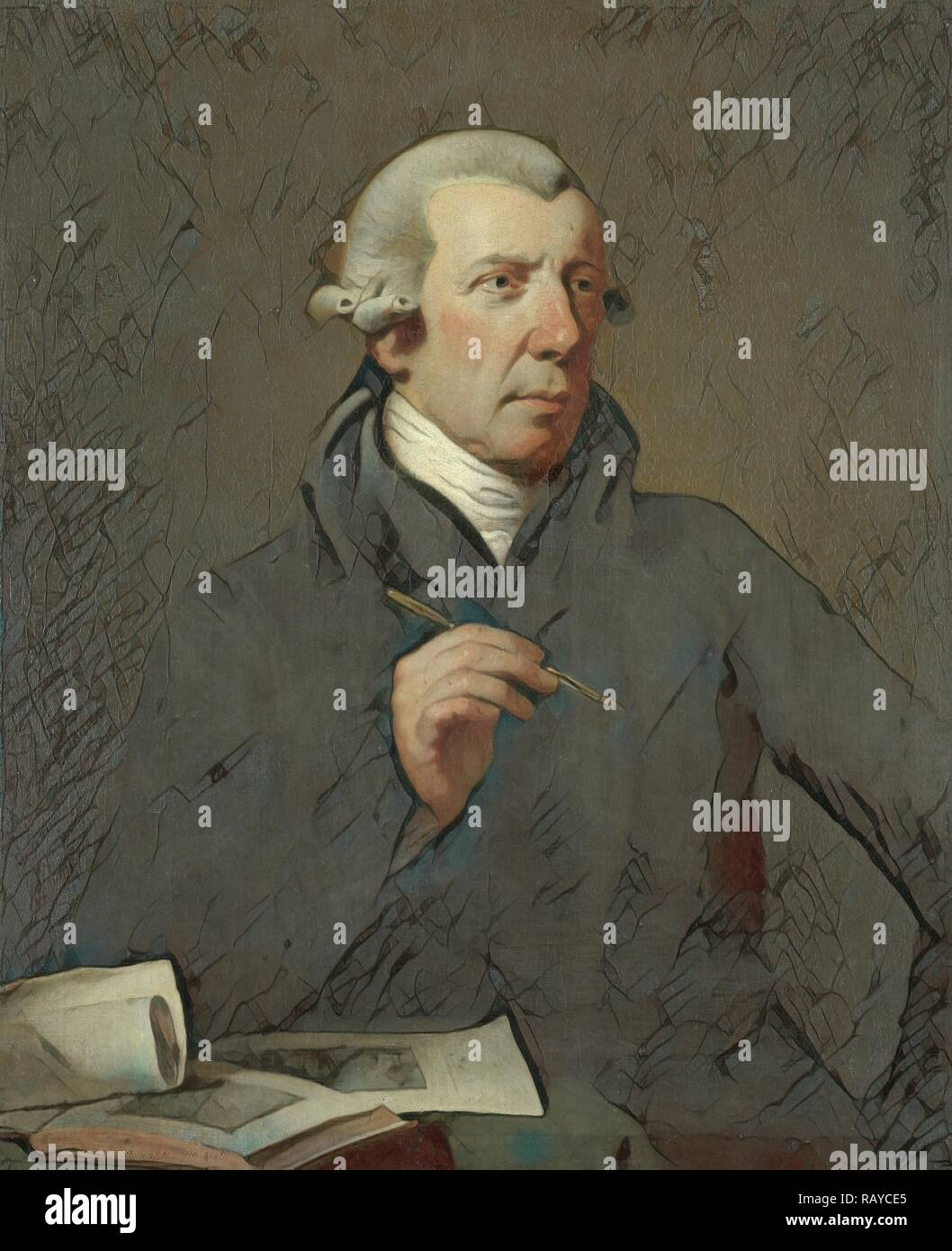 Portrait of Reinier Vinkeles, Draftsman and Engraver, Charles Howard Hodges, 1800 - 1816. Reimagined - Stock Image