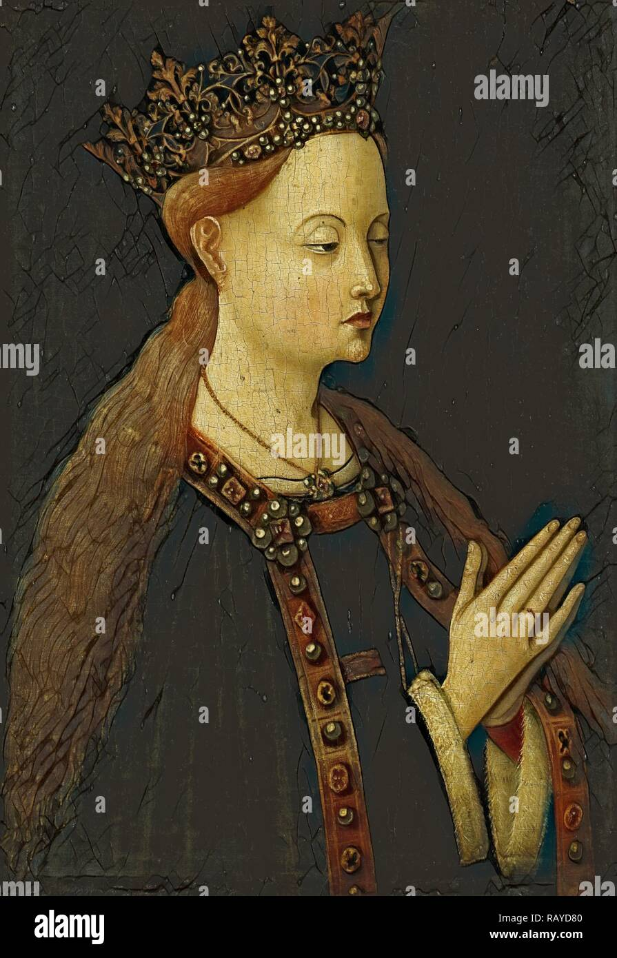 The Virgin, Anonymous, c. 1500. Reimagined by Gibon. Classic art with a modern twist reimagined - Stock Image