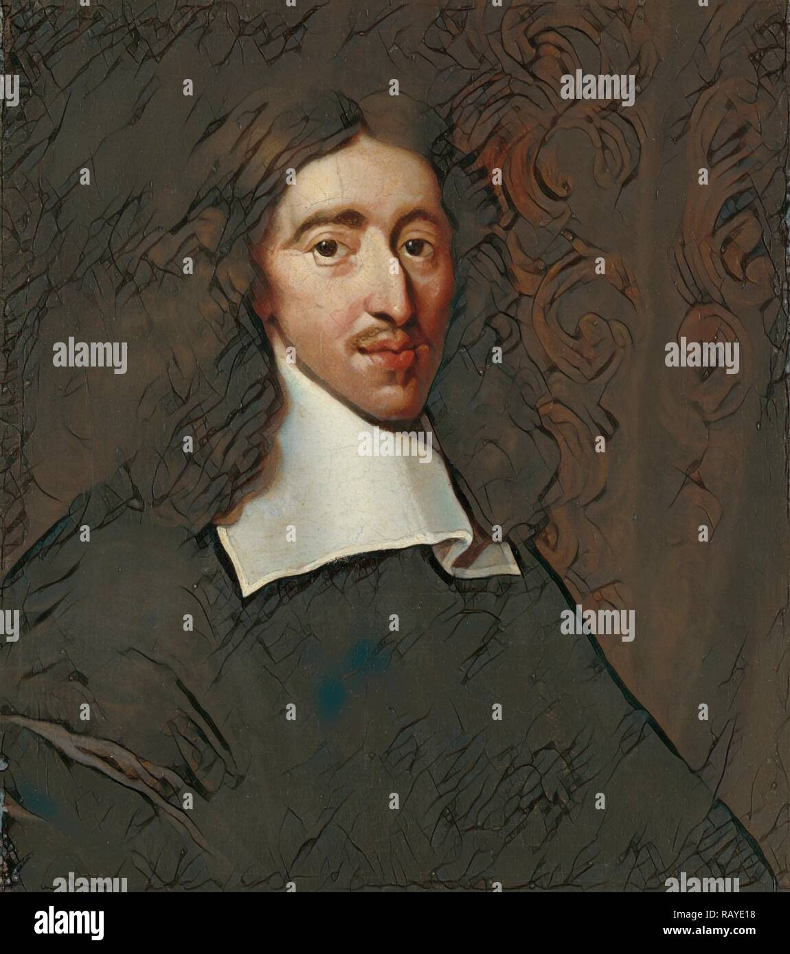 Portrait of Johan de Witt, 1625-72, Grand pensionary of Holland, copy after Caspar Netscher, 1660 - 1700. Reimagined - Stock Image
