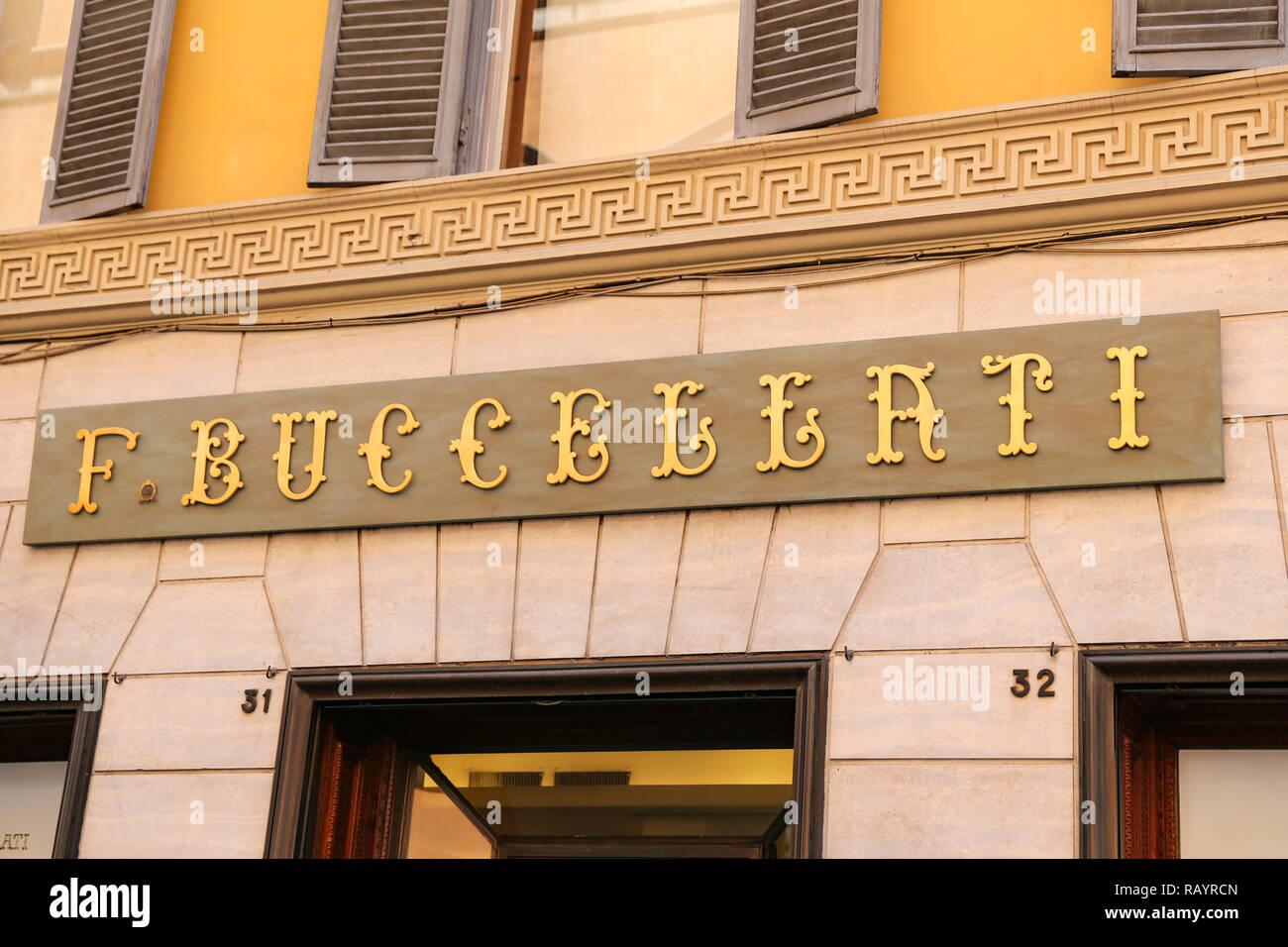 ROME, ITALY - AUGUST 21, 2018: Buccellati Store in Via Condotti, Rome city - Stock Image