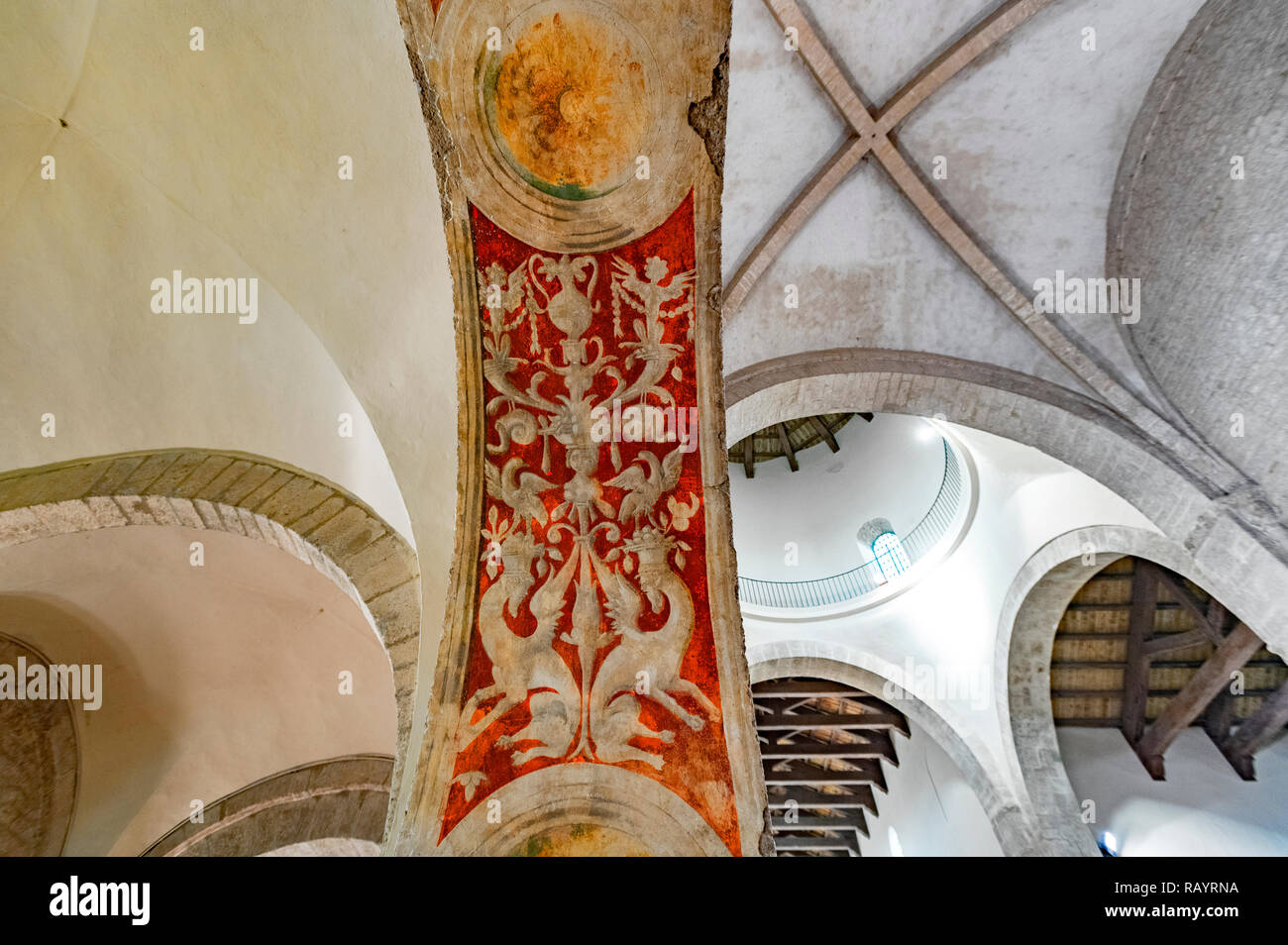 Italy Basilicat Acerenza Cathedral apse frescoes unknown authors - Stock Image