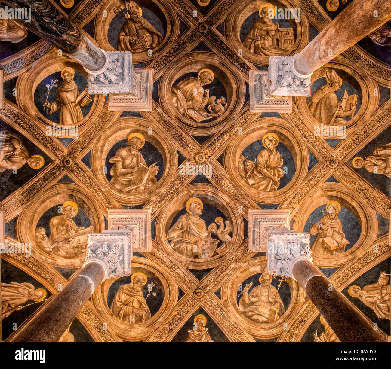 Italy Basilicat Acerenza Cathedral crypt ceiling Stock Photo