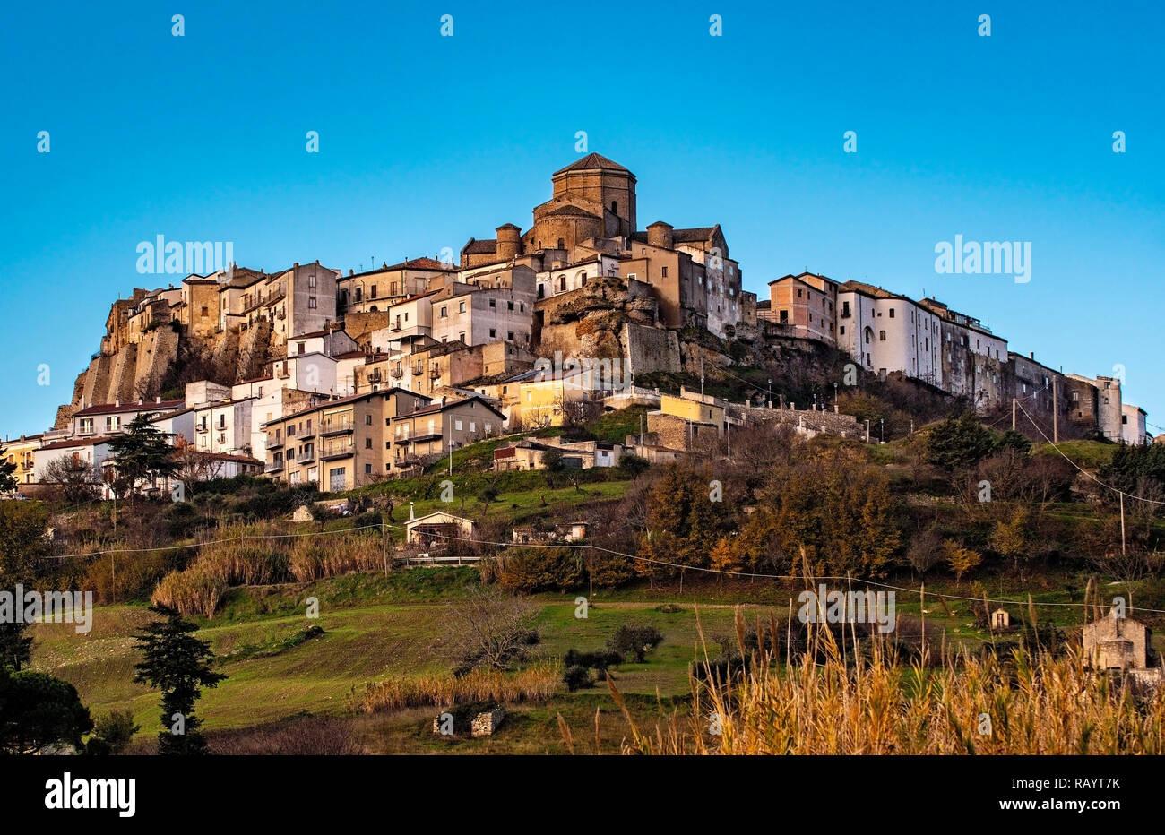 Italy Basilicat Acerenza view Stock Photo