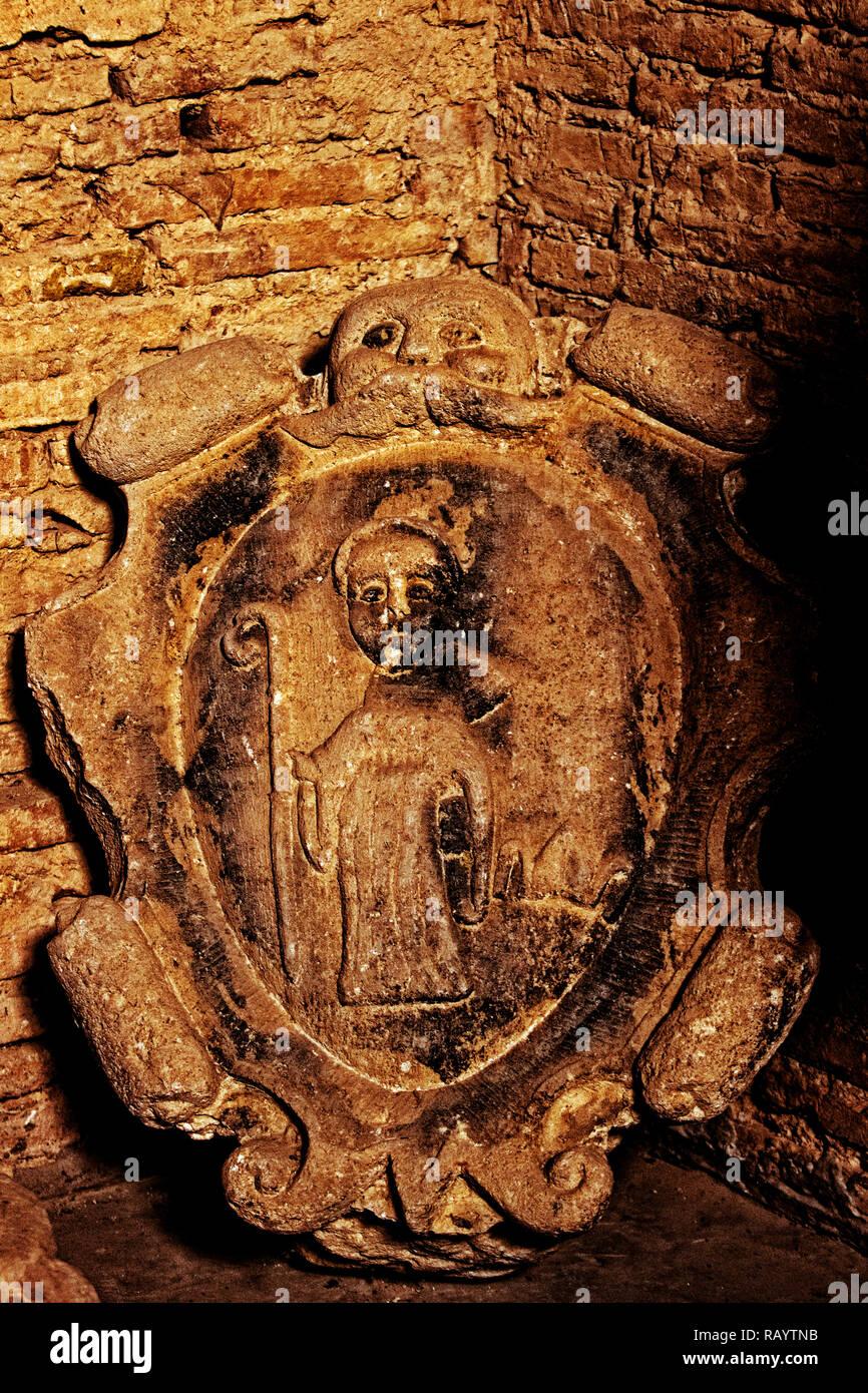 Italy Basilicata Irsina Basilica Cripta Baphometto e San Bernardo di Chiaravalle - Stock Image