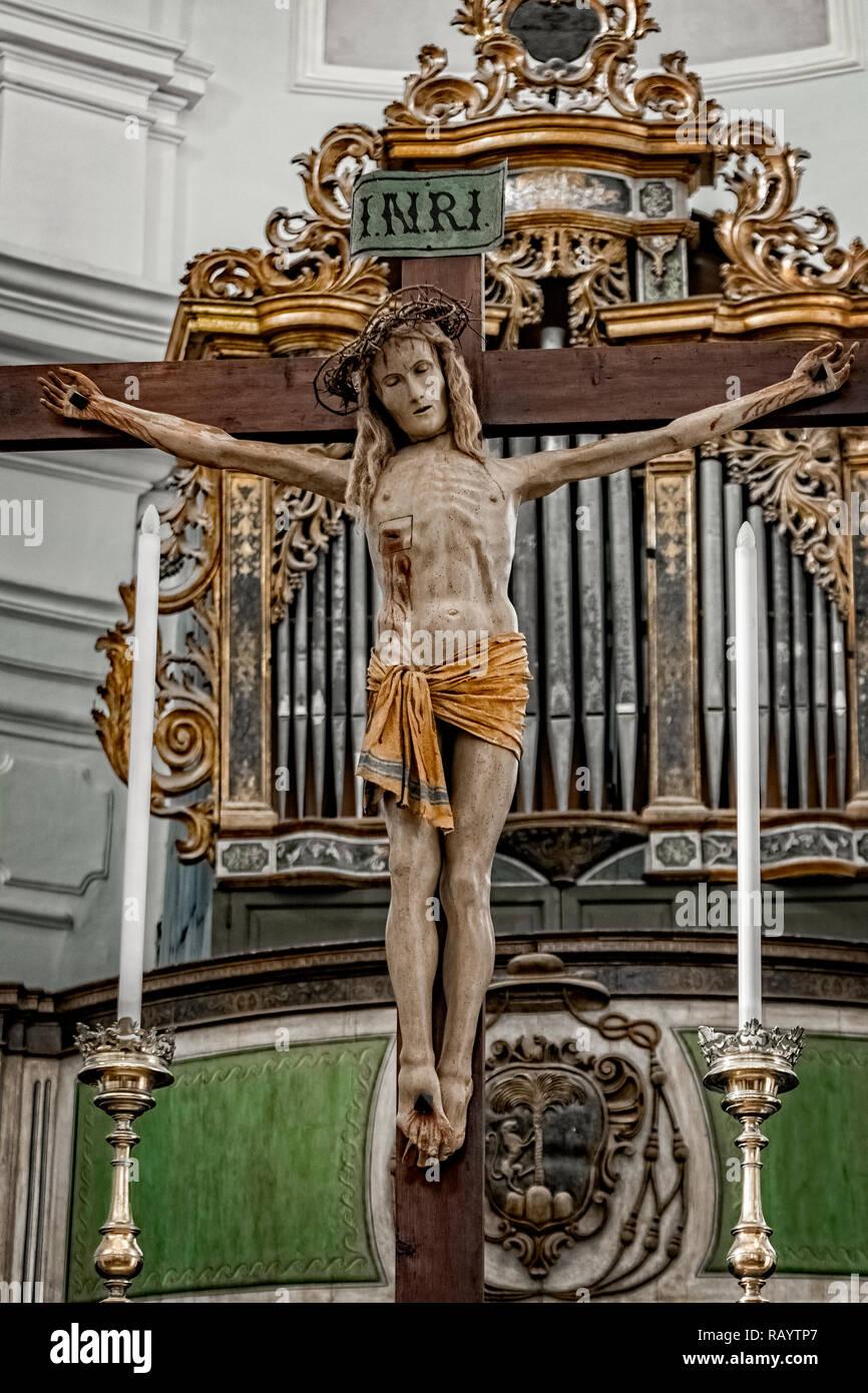 Italy Basilicata Irsina Basilica Cristo of Giovanni Teutonico Stock Photo