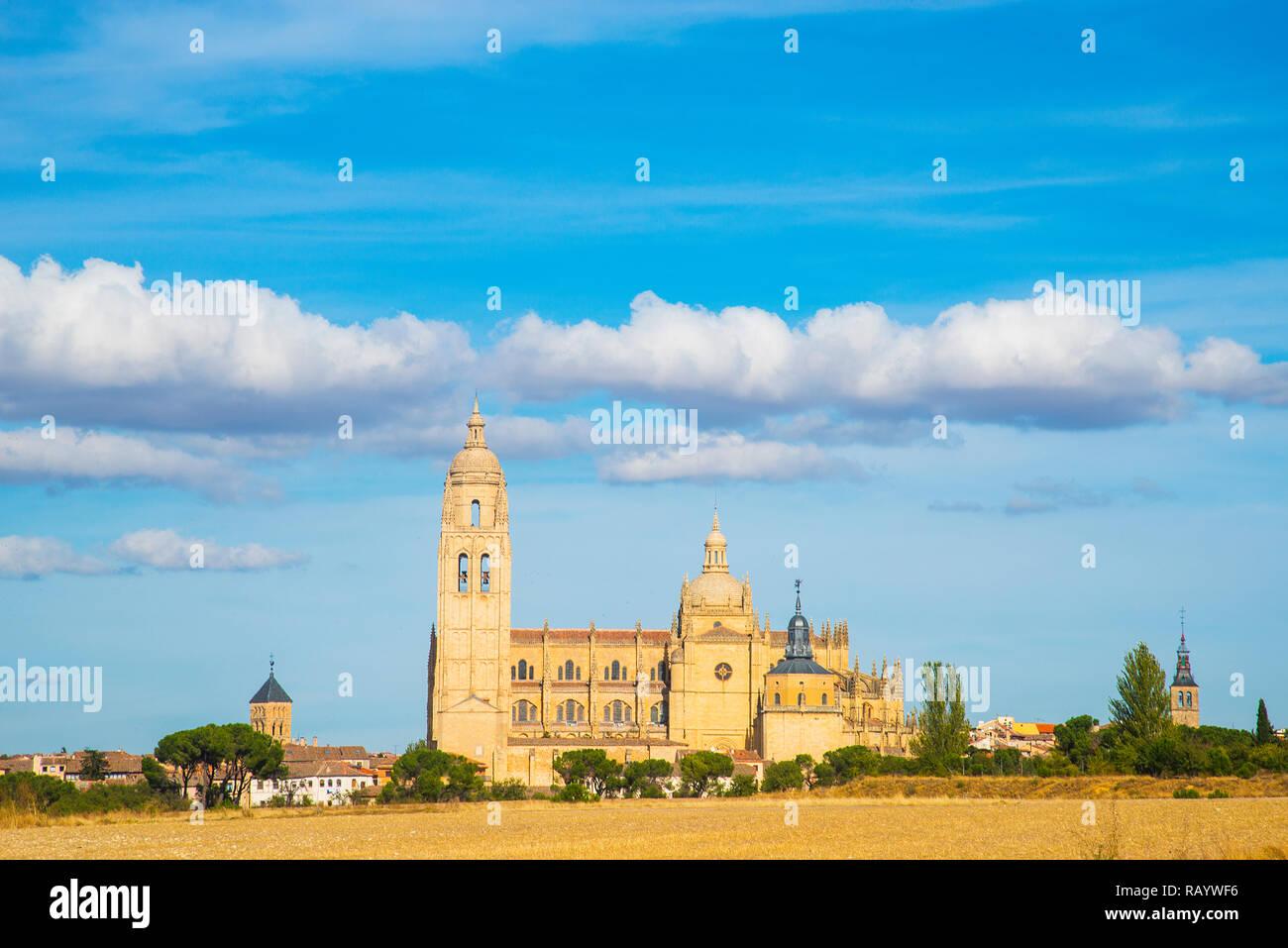 Cathedral. Segovia, Spain. - Stock Image