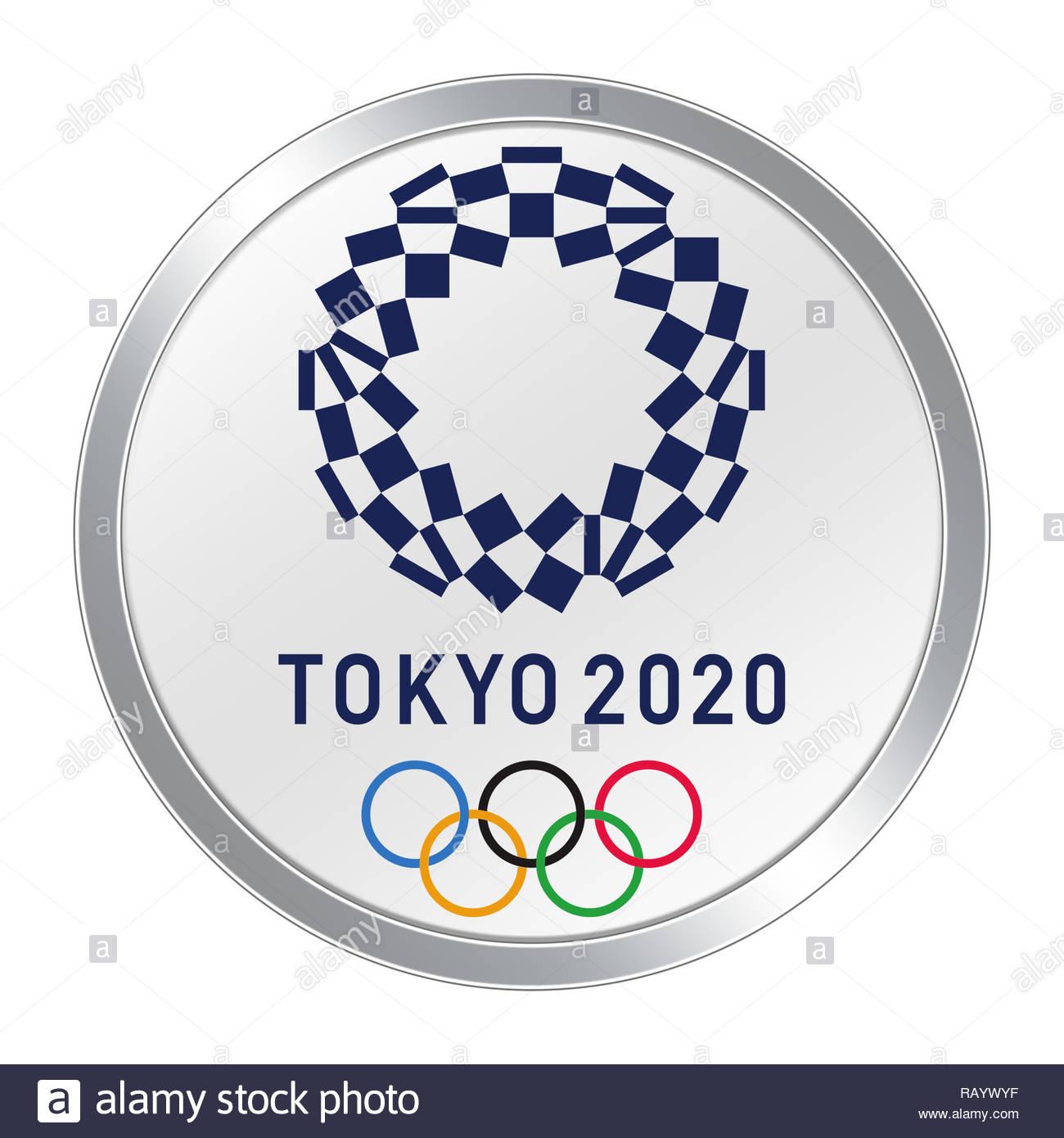 Tokyo 2020 logo Olympics Stock Photo