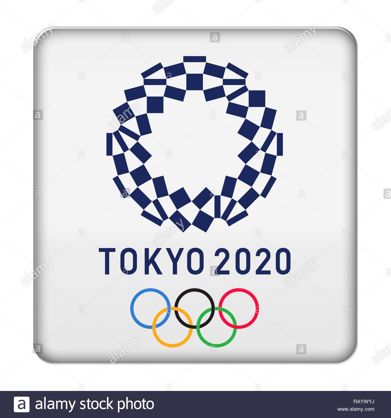 Tokyo 2020 logo sign Stock Photo