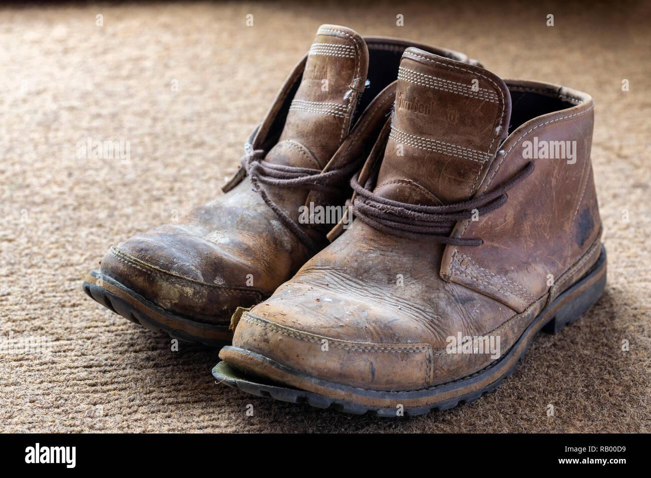 0da24c5d31f Worn Leather Boots Stock Photos & Worn Leather Boots Stock Images ...