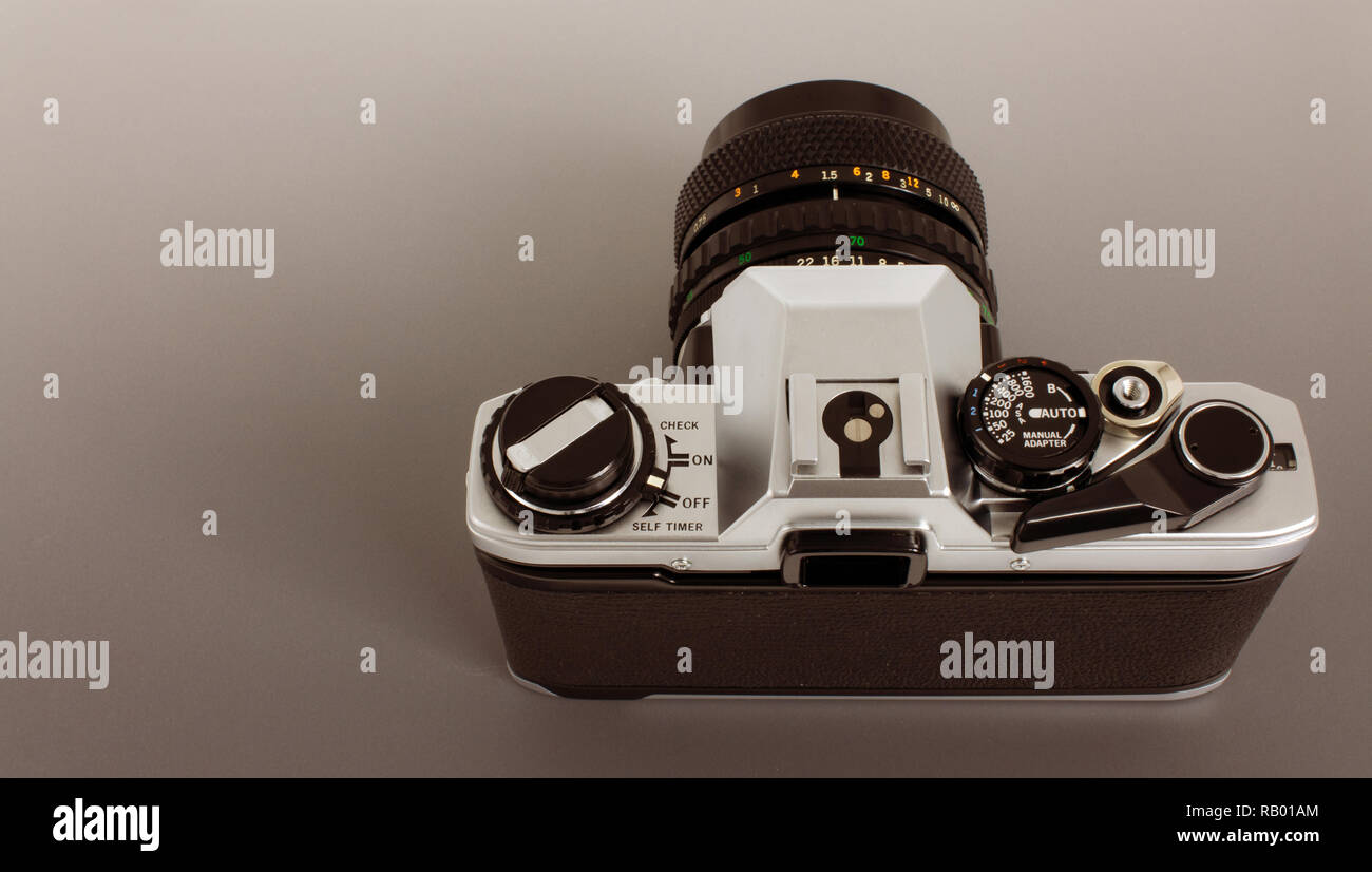 Prism Camera Stock Photos Images Alamy Detailed Diagram Shows An Exploded View Of Nikons Iconic F3 Old Slr For 35mm Film Strip Top Angle As Photographer Image