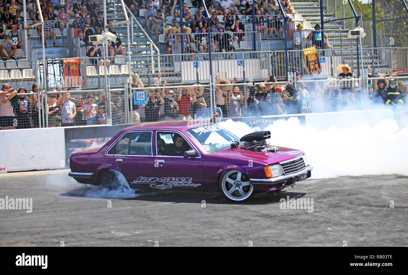 Canberra, Australia  4th Jan, 2019  A car performs during