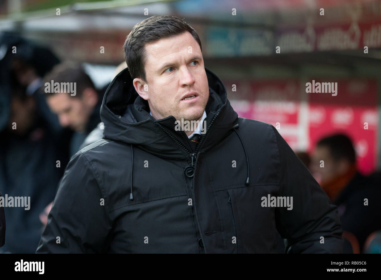 Tannadice Park, Dundee, UK. 5th Jan, 2019. Scottish Championship football, Dundee United versus Partick Thistle; Patrick Thistle manager Gary Caldwell Credit: Action Plus Sports/Alamy Live News - Stock Image