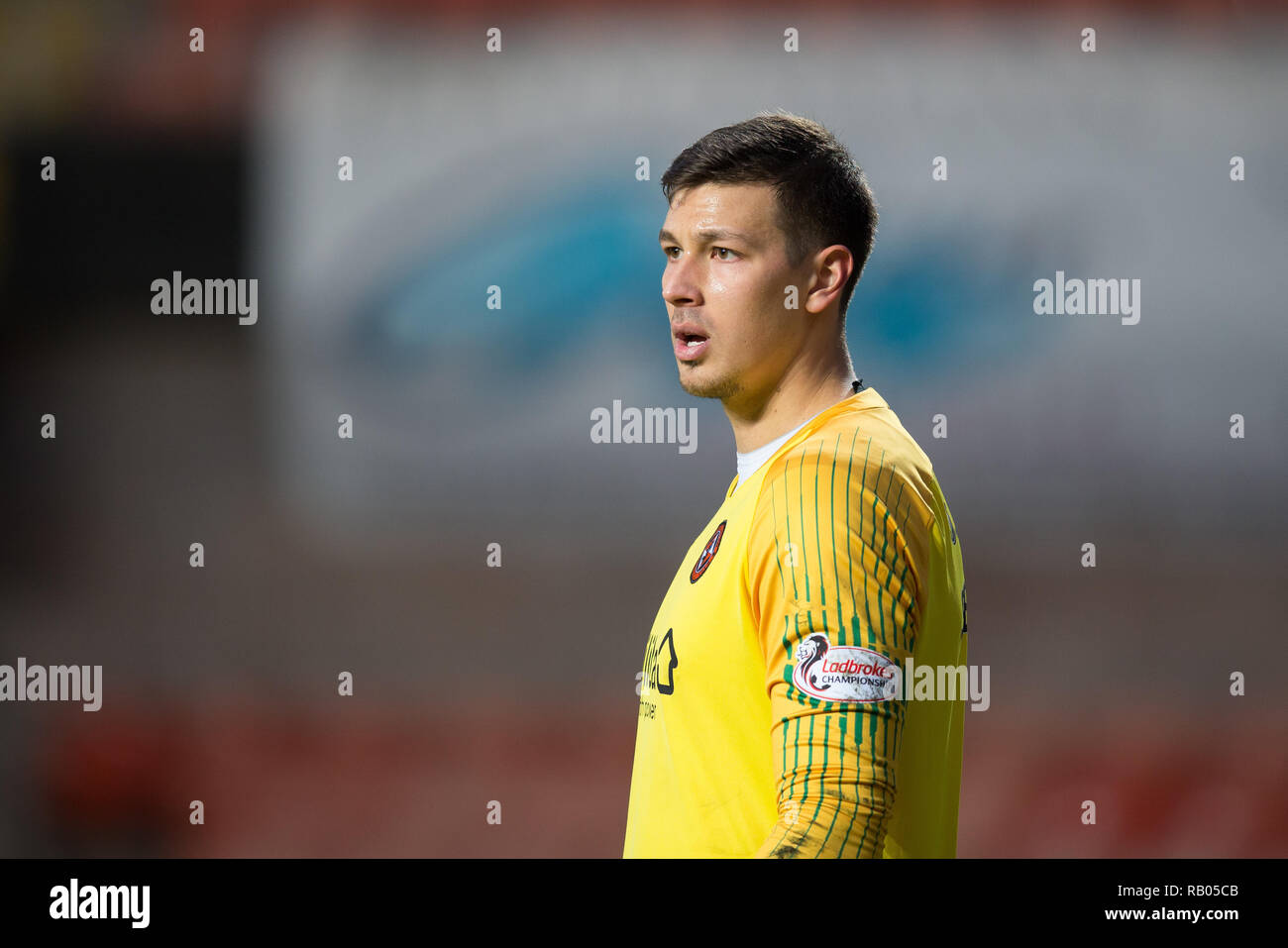 Tannadice Park, Dundee, UK. 5th Jan, 2019. Scottish Championship football, Dundee United versus Partick Thistle; Benjamin Siegrist of Dundee United Credit: Action Plus Sports/Alamy Live News - Stock Image