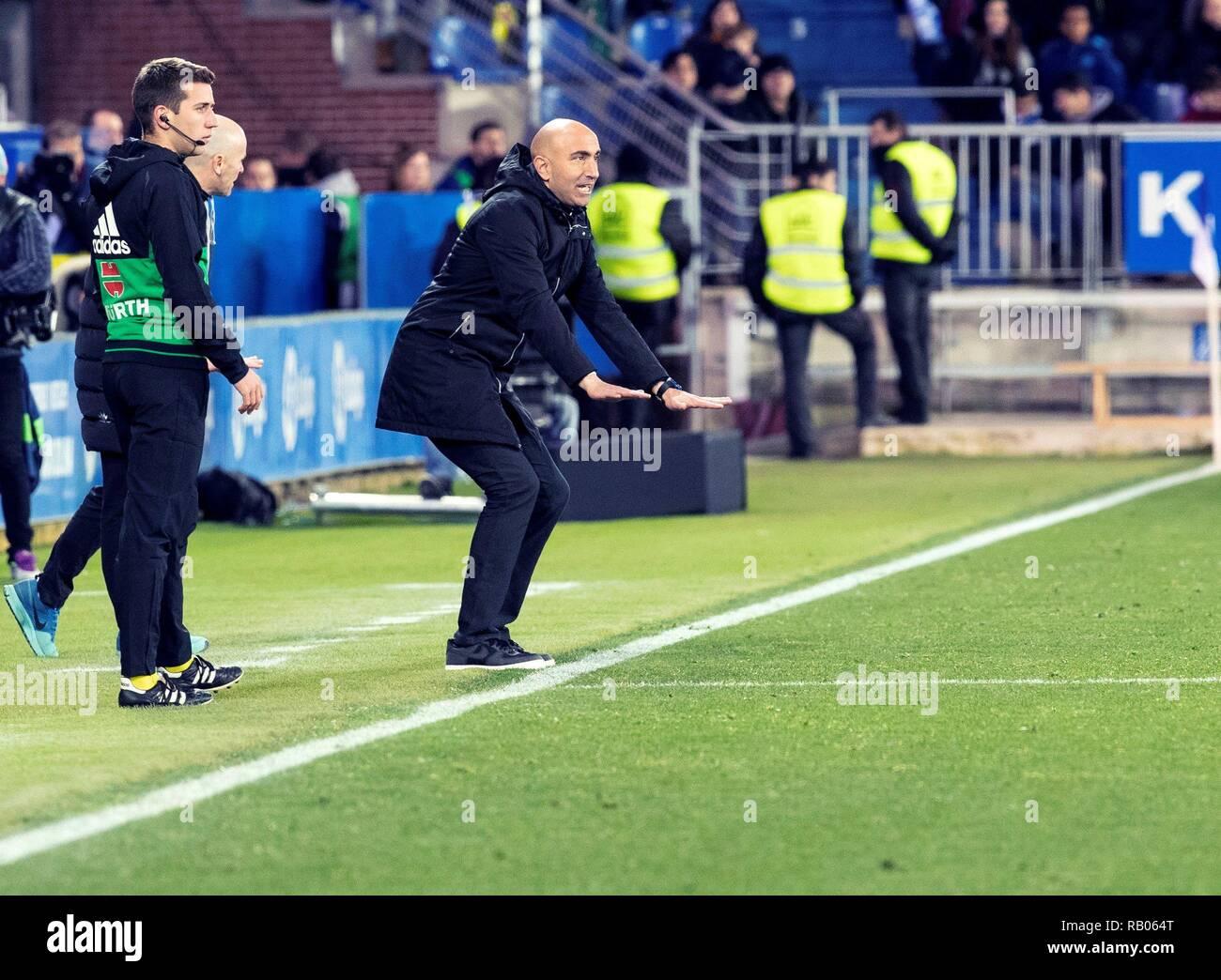 Reacts During Spanish LaLiga Match Between Alaves And Valencia At Mendizorroza Stadium In Vitoria Spain 05 January 2019 Credit Adrian Ruiz Del