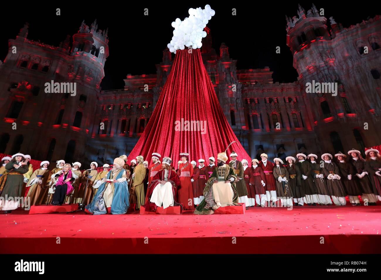 Mayors Christmas Parade 2019 Madrid, Spain. 05th Jan, 2019. Spain, 5th Jan, 2019. Madrid's