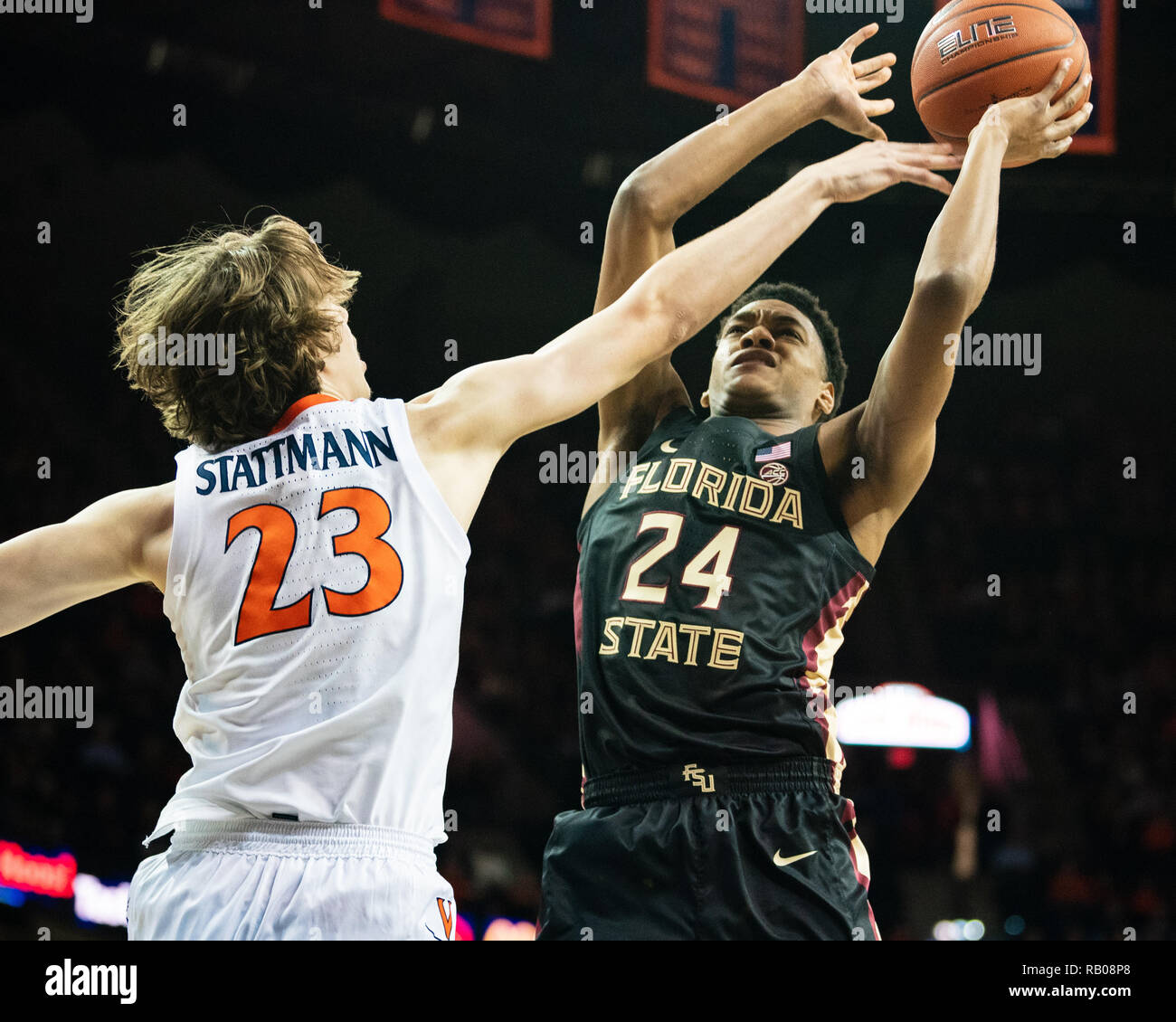 Virginia Usa 5th Jan 2018 Virginia Cavaliers Guard Kody Stattmann