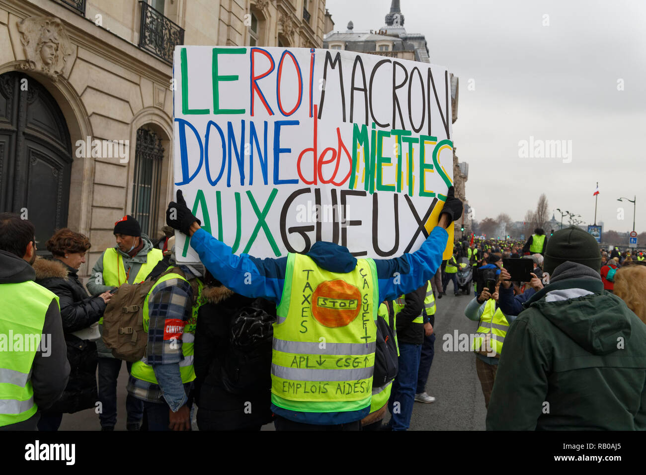 Paris France th Jan Manifestation Of Yellow Vests They Confront The Riot Police On January In Paris France Credit Bernard Menigault Alamy Live News Stock Photo Alamy