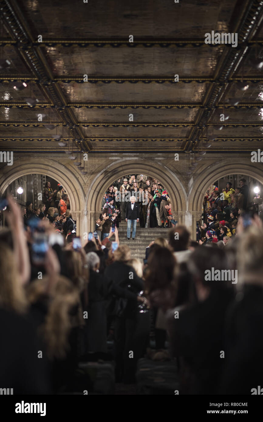 Fashion Designer Ralph Lauren Walks The Runway For Ralph Lauren Fashion Show During New York Fashion