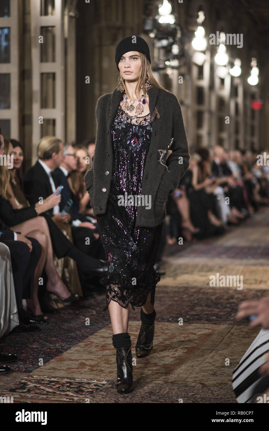 6403f026475 A model walks the runway for Ralph Lauren fashion show during New York  Fashion Week on September 7