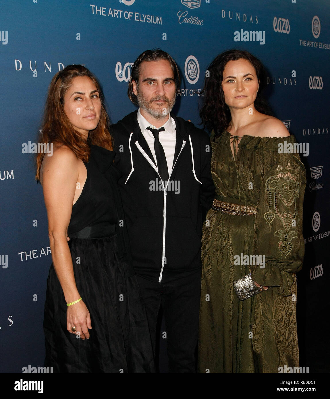 California, USA. 5th Jan 2019. Rain Phoenix, Joaquin Phoenix and Summer Phoenix attend HEAVEN, presented by The Art of Elysium, on January 5, 2019 in Los Angeles, California. Photo: imageSPACE/MediaPunch Credit: MediaPunch Inc/Alamy Live News - Stock Image