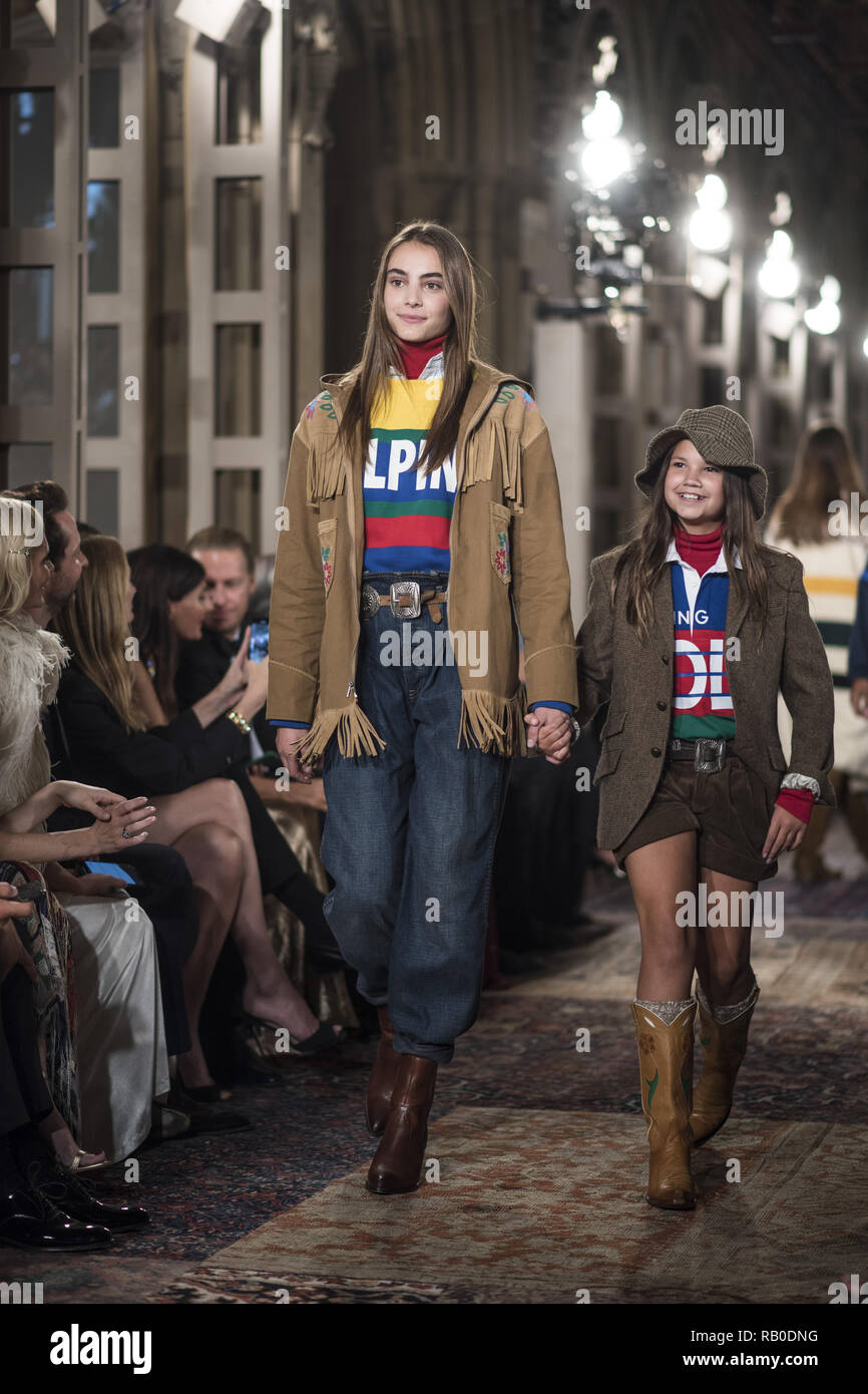 de22c3deda7 Models walk the runway for Ralph Lauren fashion show during New York  Fashion Week on September 7
