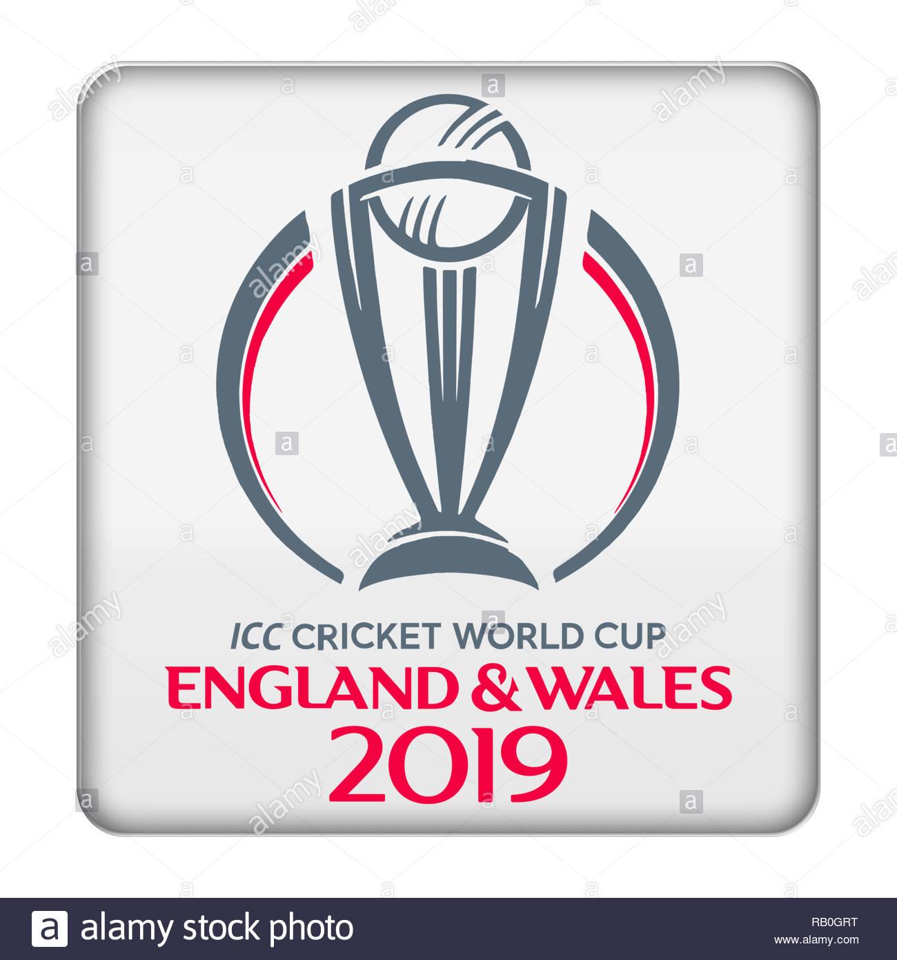 2019 Cricket World Cup logo - Stock Image