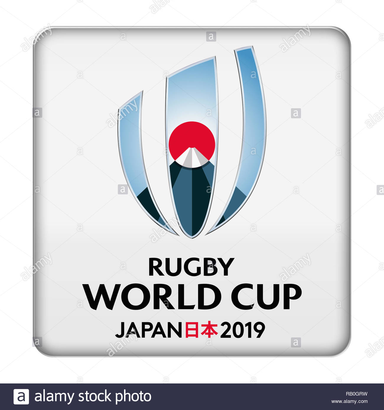2019 Rugby World Cup logo - Stock Image