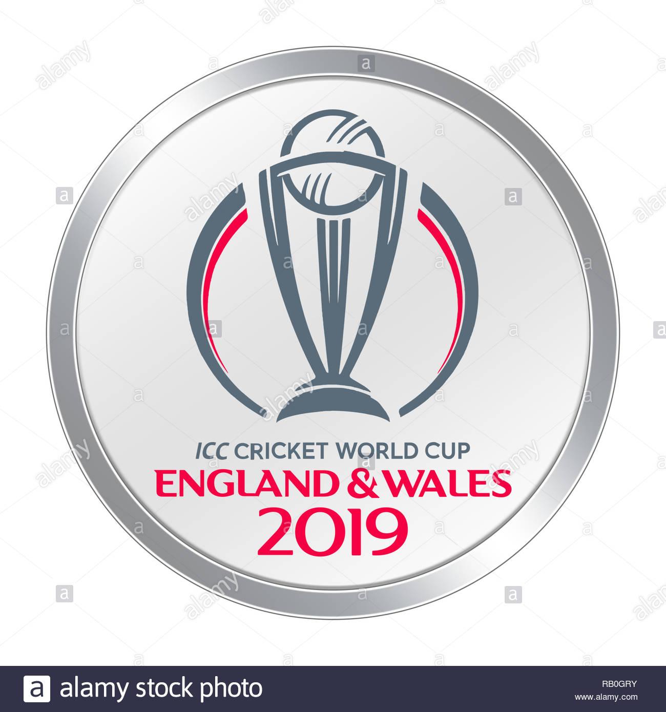 ICC Cricket World Cup logo icon - Stock Image