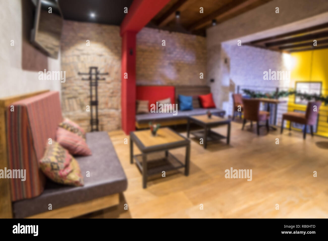 Blurred Modern Coffee Shop For Use As Background Cafe Restaurant Interior Stock Photo Alamy