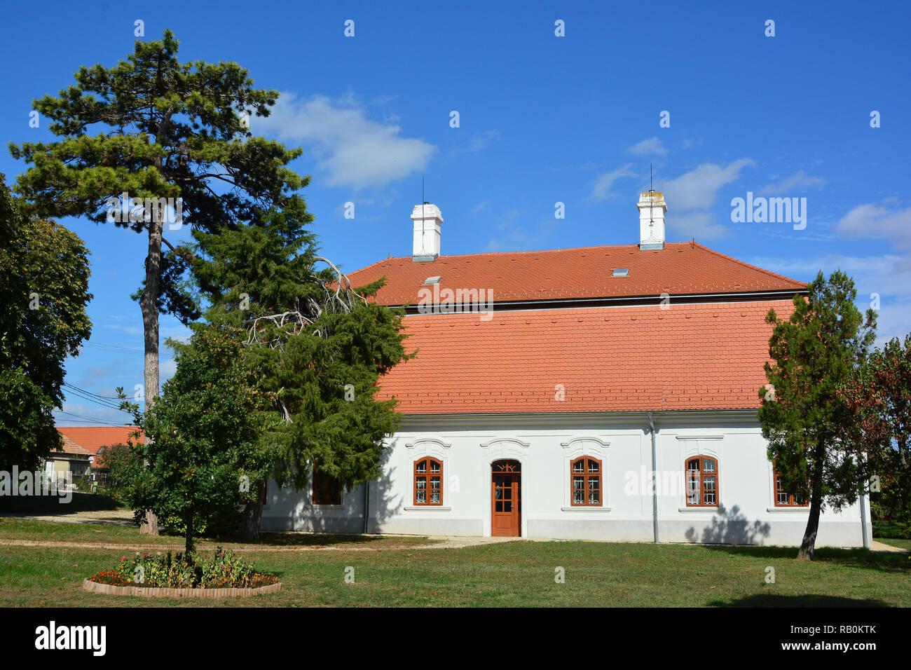 Former Talián-Horváth Castle in Szentkirályszabadja Hungary. Volt Talián-Horváth-kastély Szentkirályszabadján. - Stock Image
