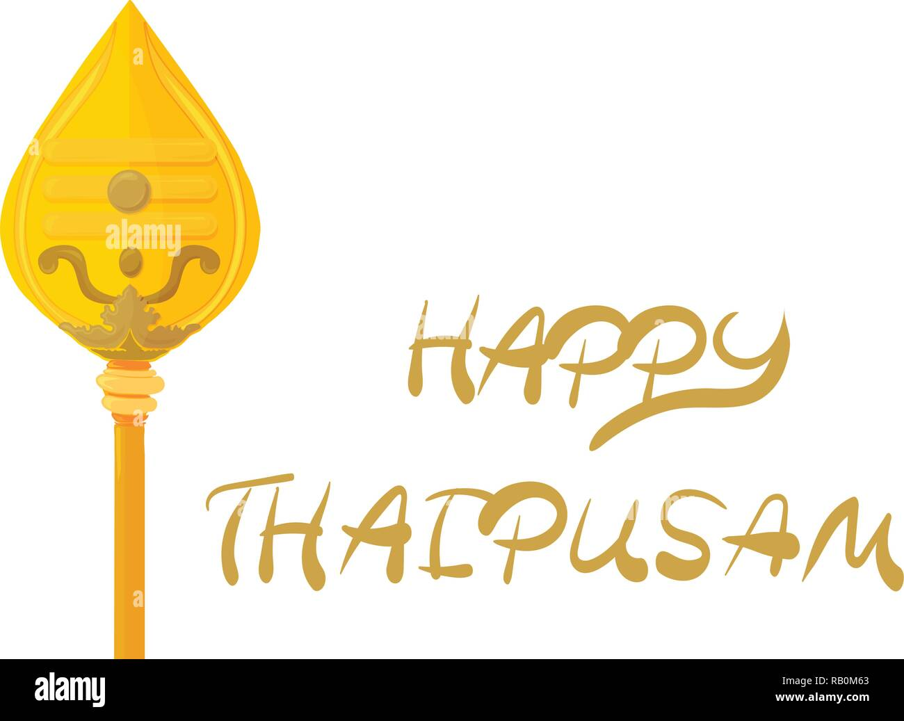 Vector illustration for Tamil community: Happy Thaipusam greeting card, banner or icon. - Stock Image