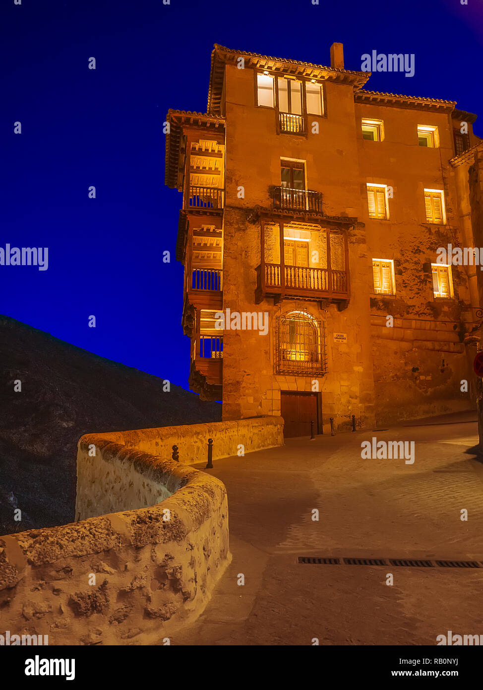 View from the rise of the bridge to the Hanging Houses - Stock Image