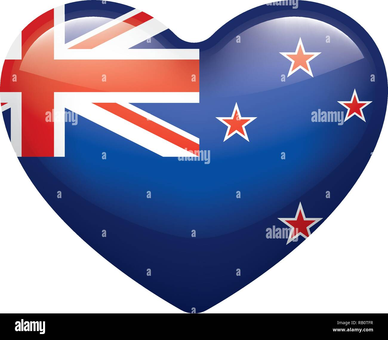 New Zealand flag, vector illustration on a white background - Stock Vector