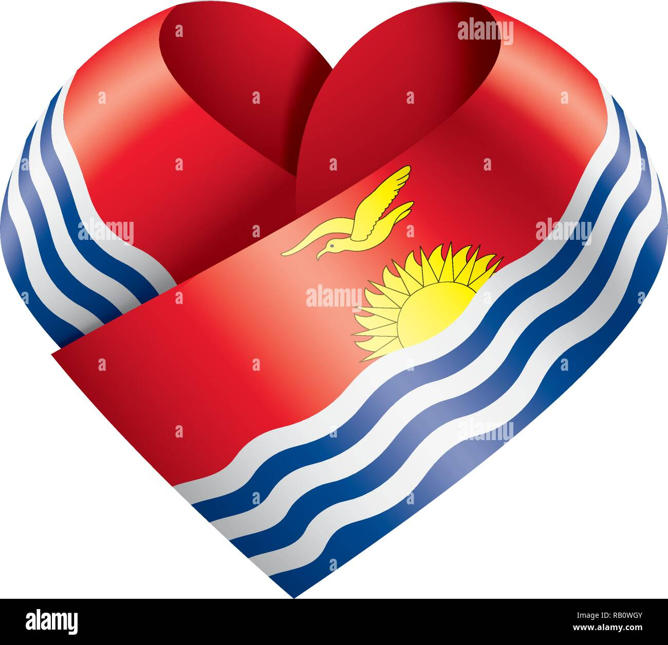 Kiribati flag, vector illustration on a white background - Stock Image