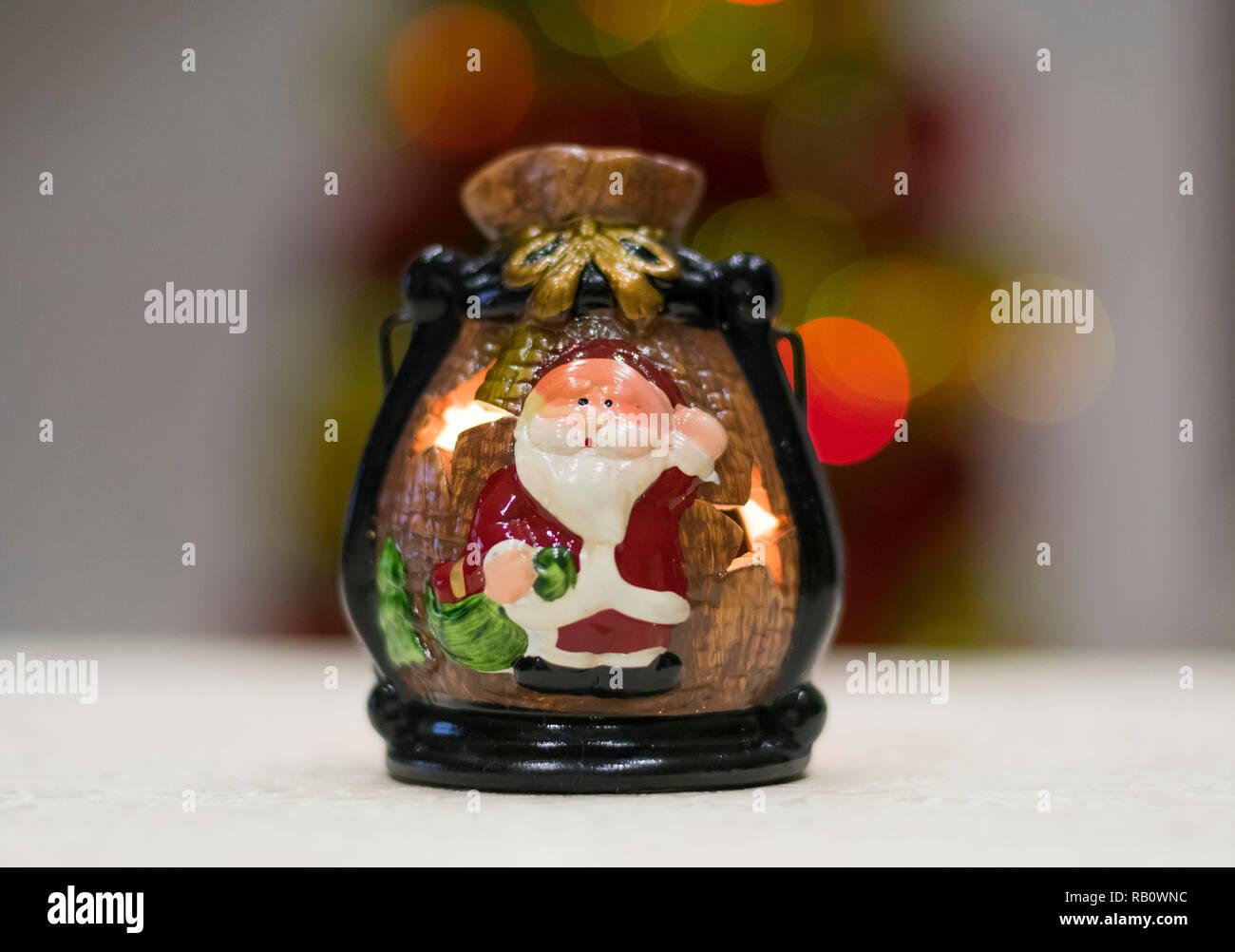 Christmas Candlestick - Stock Image