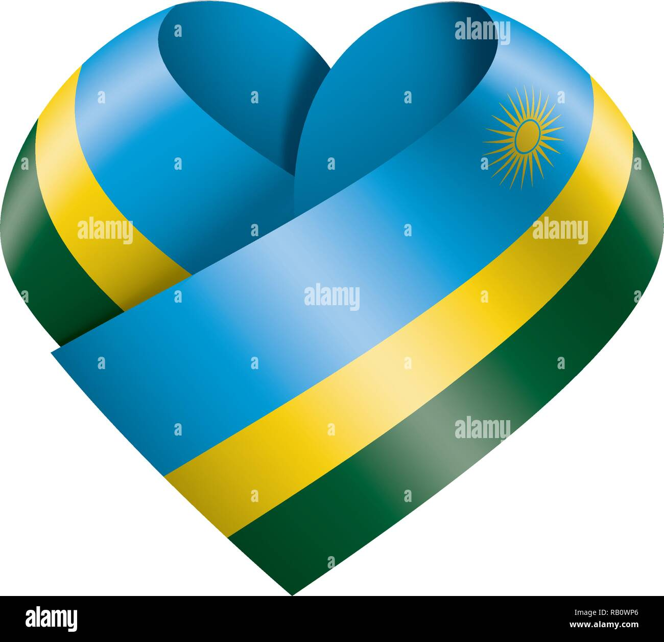 Rwanda flag, vector illustration on a white background - Stock Image