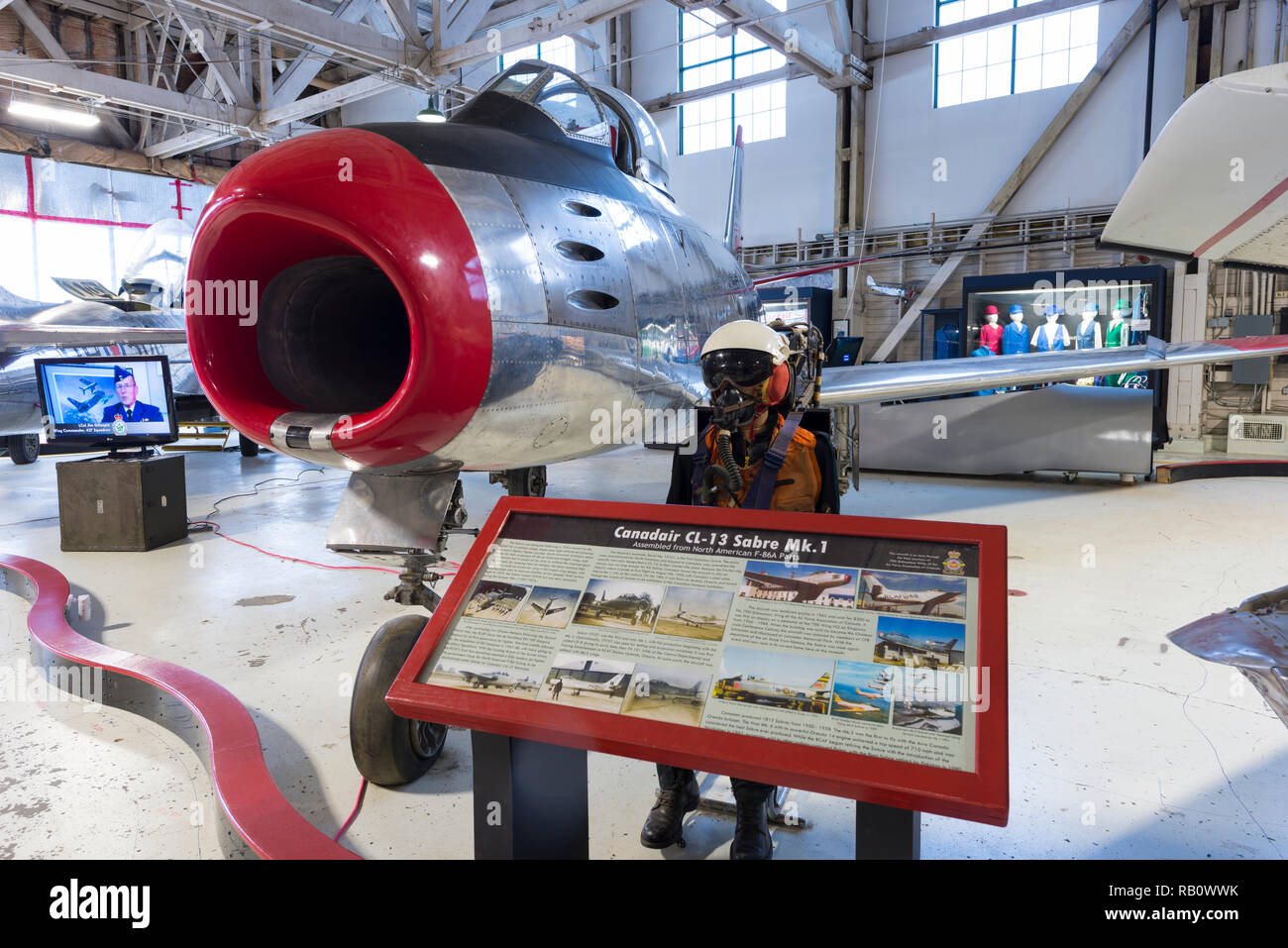 Canadair CL-13 Sabre MK.1 at the Edmonton Aviation Museum - Stock Image