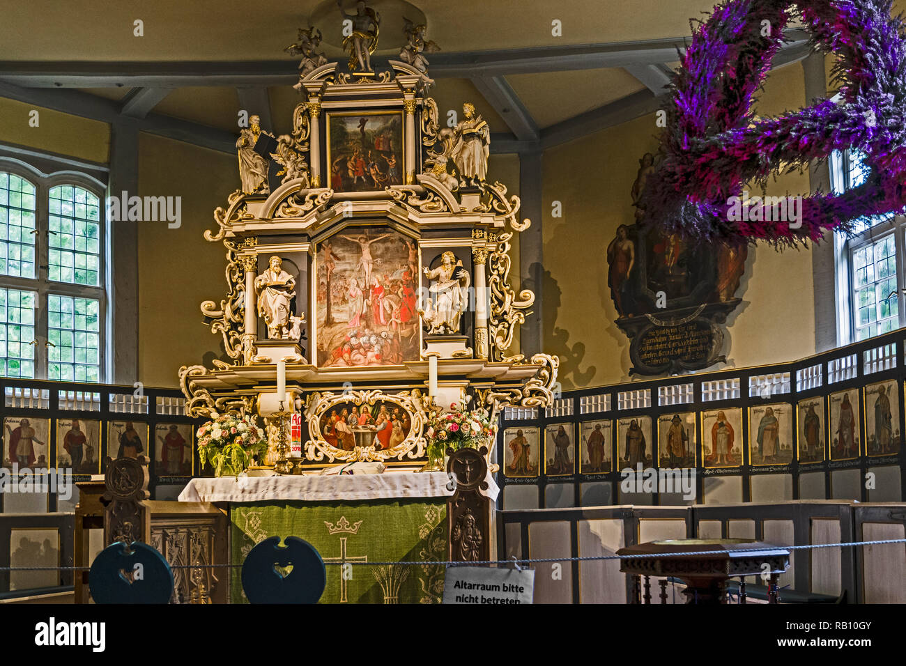 Egestorf (Lower Saxony, Germany: St. Stephanus Church; Egestorf (Niedersachsen): St. Stephanus Kirche - Stock Image