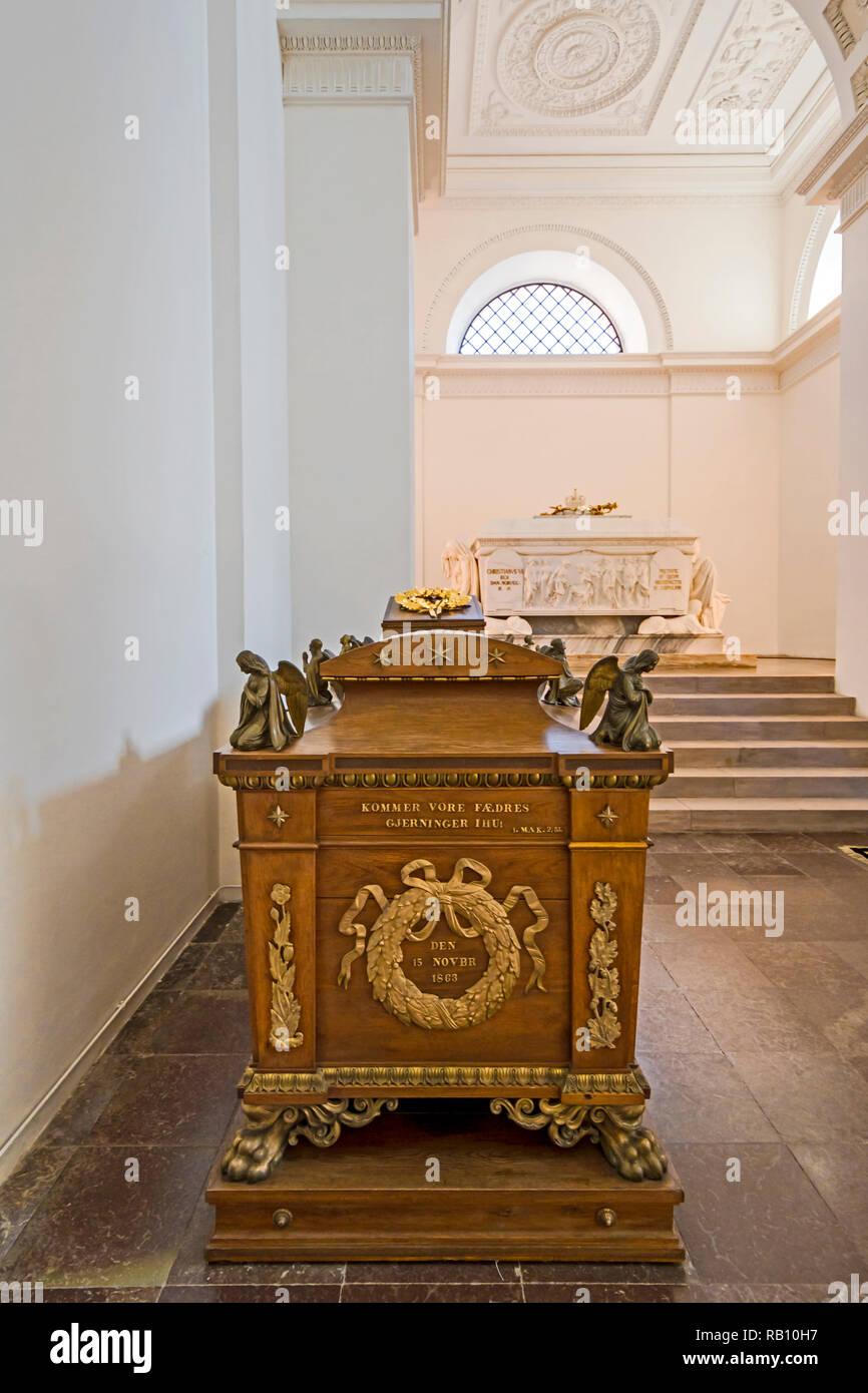 Roskilde Domkirke (Denmark, Zealand); Domkirche zu Roskilde, Dänemark: Frederick V's chapel - Stock Image