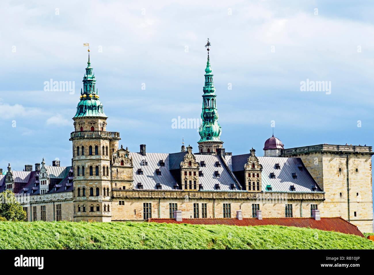 Kronborg Castle in Elsinore (Denmark), helsingör Schloss - Stock Image