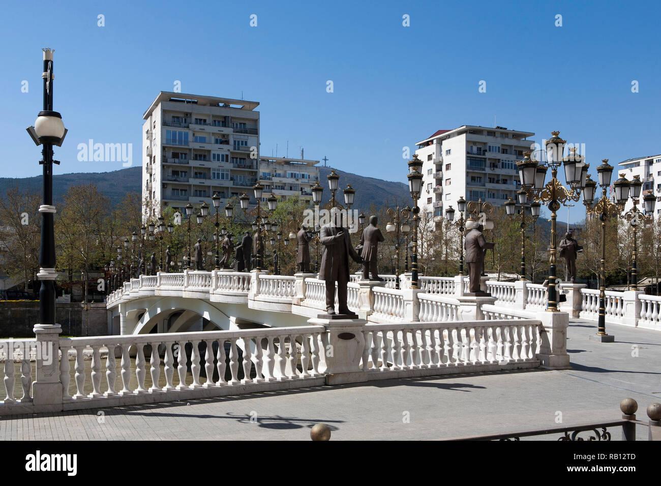 Skopje, Eye Bridge, Macedonia, Balkans - Stock Image