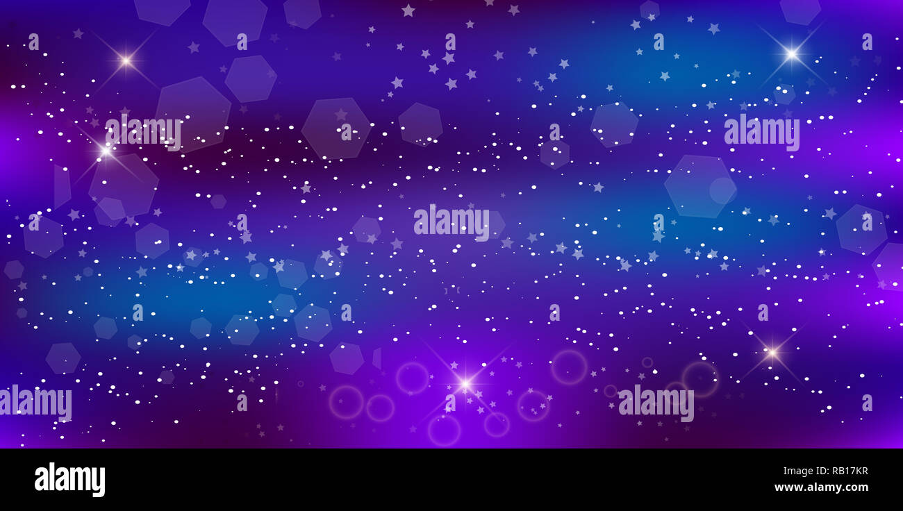 fantastic galaxy rectangle background blurred glowing circles with flowing and liquid concept purple neon magic banner night starry sky wallpaper RB17KR