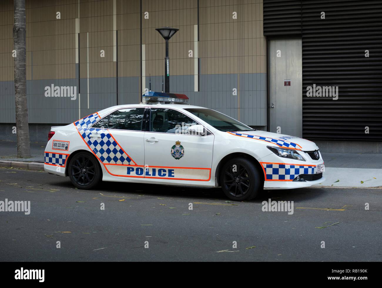Queensland Police car, Brisbane, Queensland, Australia - Stock Image